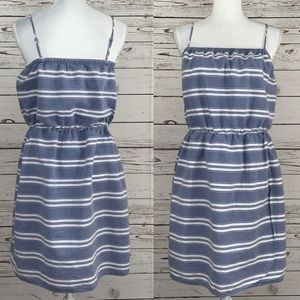 GAP blue and white striped summer dress